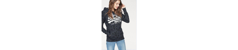 Allover VINTAGE FLORAL Kapuzensweatshirt Design mit Superdry AOP HOOD floralem S0gfRHwwqa