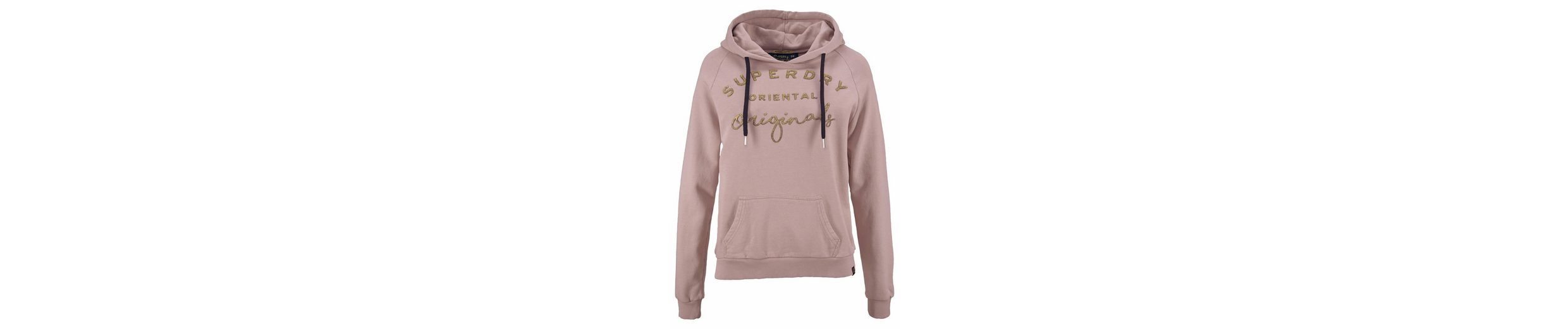 Superdry Sweatshirt ASTIBLE GRAPHIC HOOD, mit goldenem Frontprint im Vintage Look