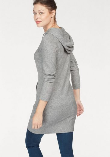 Superdry Strickkleid LUXE KNITTED HOODY DRESS