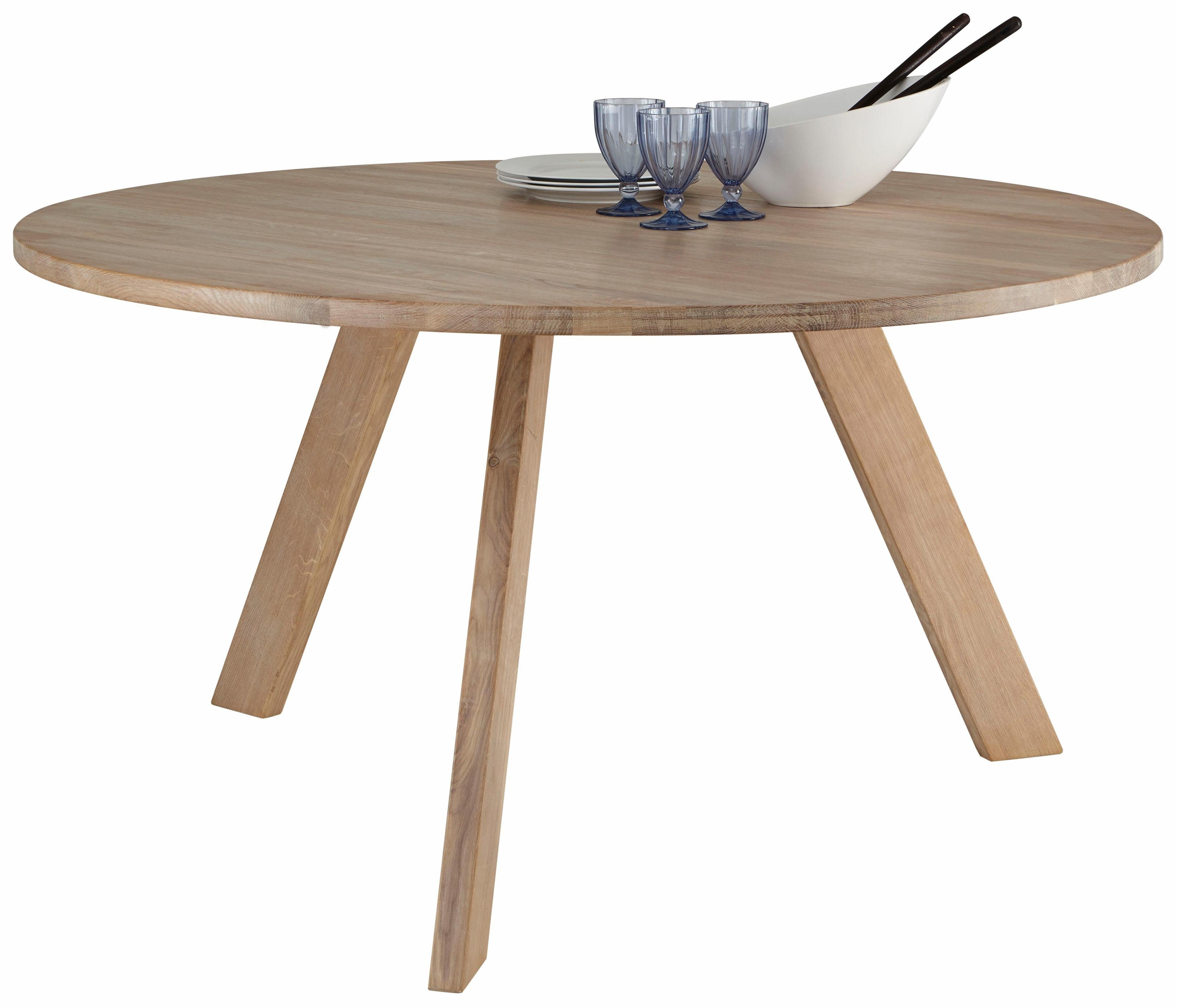GMK Home & Living Esstisch »Dinard«, Ø 140 cm, mit runder Tischplatte aus massiver Eiche