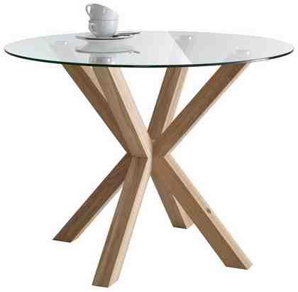 GMK Home & Living Esstisch »Dinard«, Ø 100 cm, mit runder Glasplatte