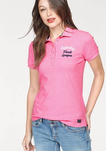 Superdry Poloshirt APPLIQUE POLO, mit Logo Stickereien