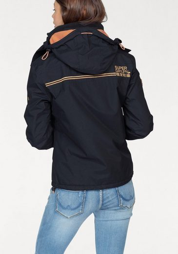 Superdry Windbreaker POP ZIP HOOD ARCTIC WINDCHEATER, mit Kontrastdetails