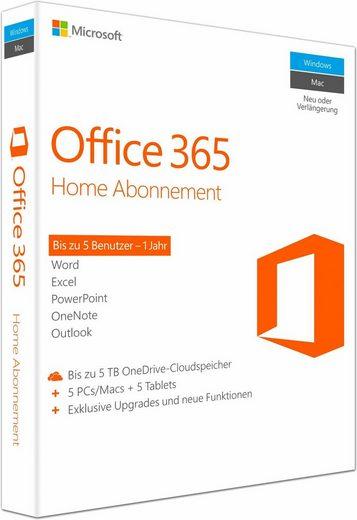 Microsoft Microsoft Office 365 Home Mac/Windows (CD-ROM)