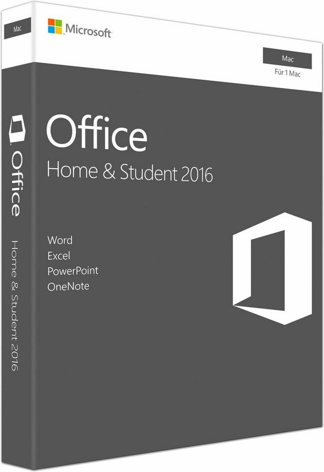 microsoft office mac home and student 2016 kaufen otto. Black Bedroom Furniture Sets. Home Design Ideas