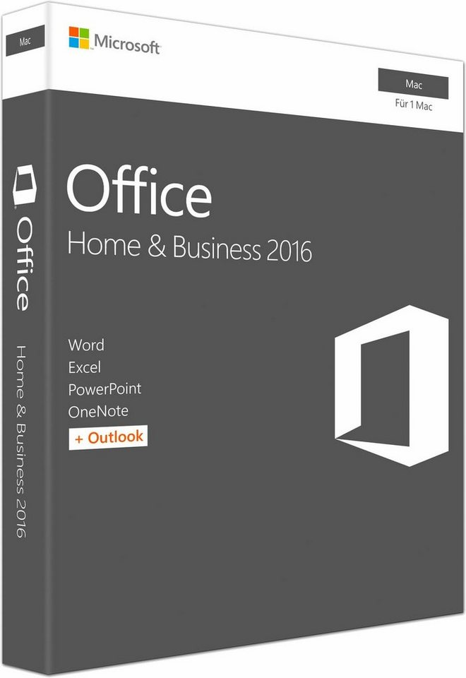 Microsoft Office Mac Home and Business 2016 (CD-ROM)