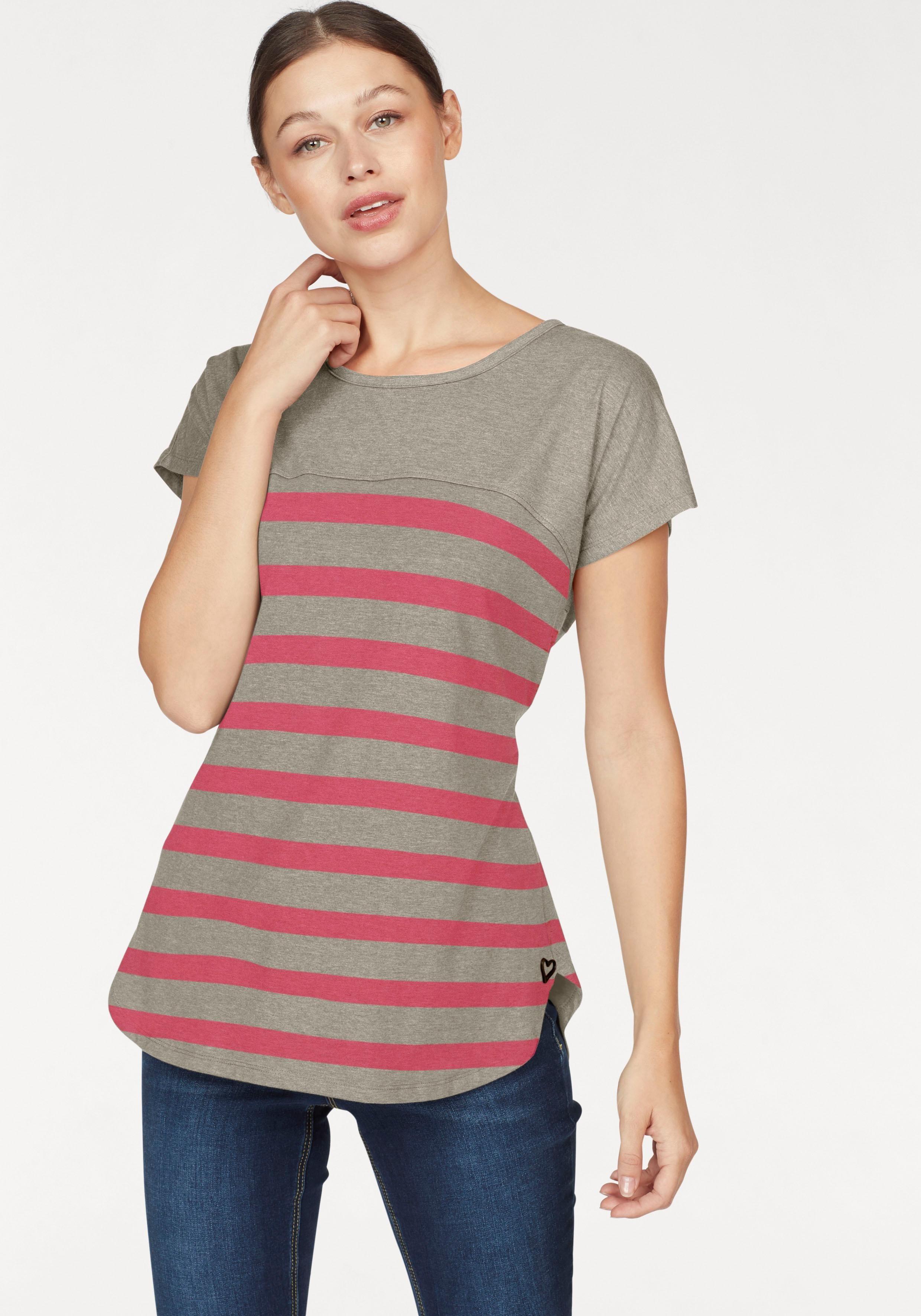 alife and kickin T-Shirt »CLARA B«, mit gemustertem Unterteil. 04.01.2018  Anbieter   OTTO - Ihr Online-Shop 55c643ca79