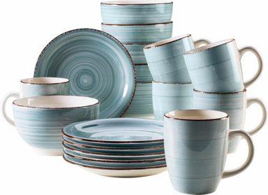 MÄSER Frühstücks-Set »BEL TEMPO« (18-tlg), Keramik, Spülmaschinengeeignet