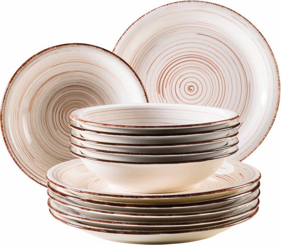 domestic by maeser tafelservice keramik 12 teile bel. Black Bedroom Furniture Sets. Home Design Ideas