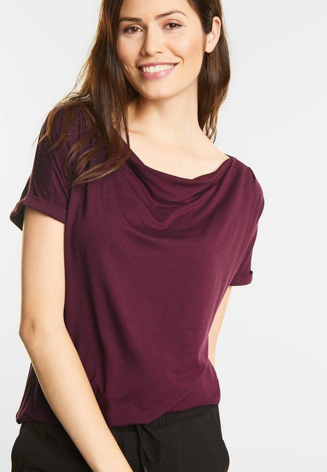 street one shirt mit wasserfallkragen kaufen otto. Black Bedroom Furniture Sets. Home Design Ideas