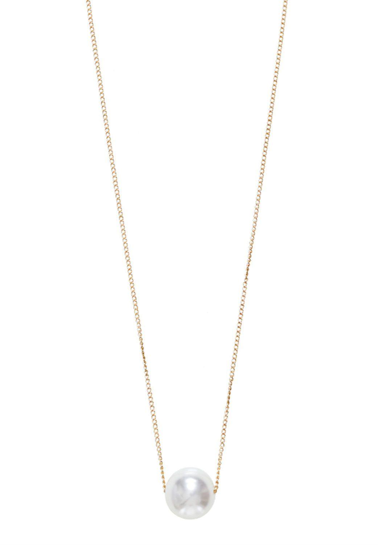 HALLHUBER Filigrane Halskette mit Zierperle