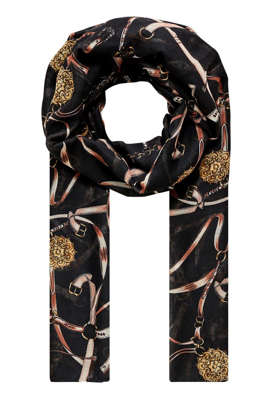 HALLHUBER Schal mit Kettendruck