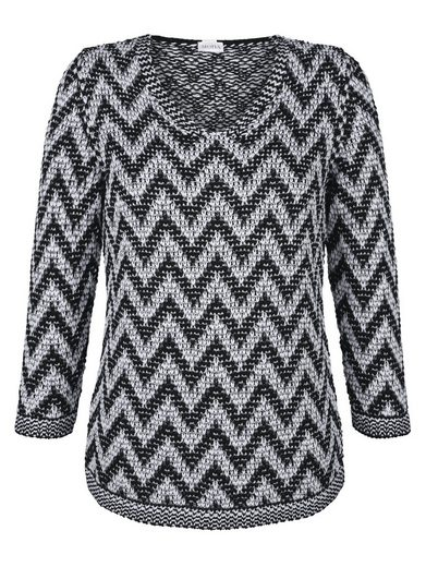 Mona Pullover With A Zigzag Pattern
