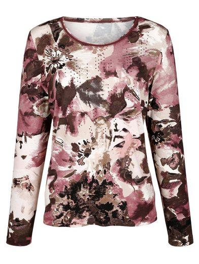 Paola Shirt mit farbigen Strasssteinchen
