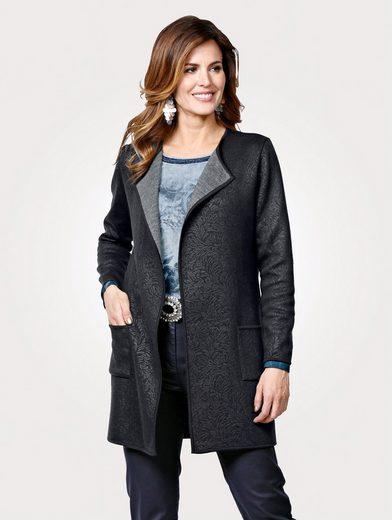Mona Jerseyjacke mit Struktur-Prägung
