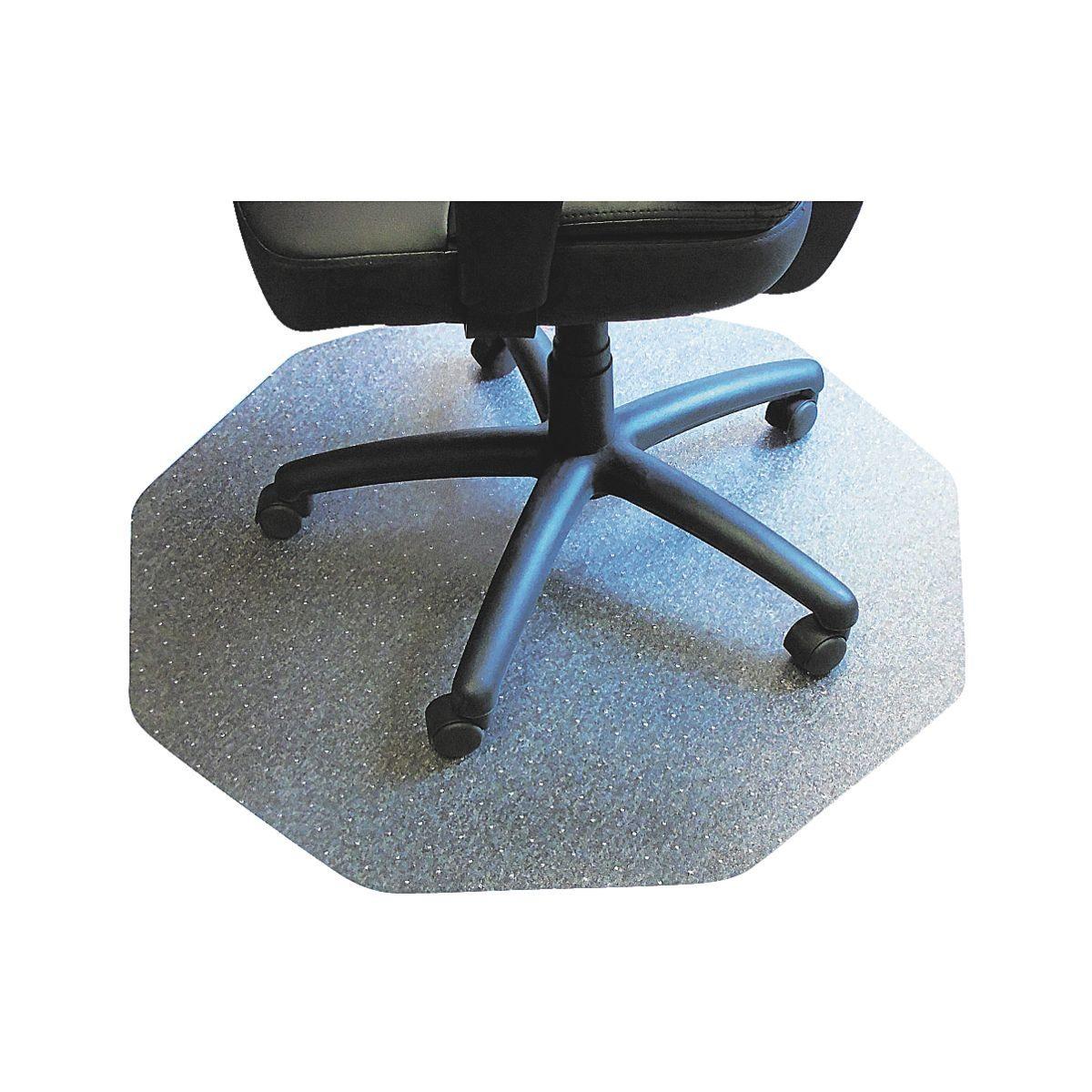 FLOORTEX Bodenschutzmatte, 9-eckig 100x100 cm, transparent, für ... »9mat«