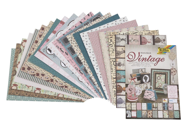 """Folia Motivblock """"Vintage II"""" Motivpapier"""