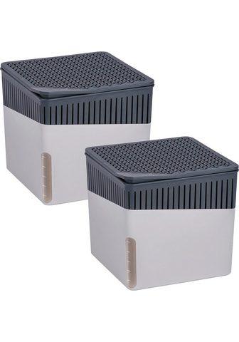 WENKO Luftentfeuchter Cube Grau dėl 80 m³ Rä...
