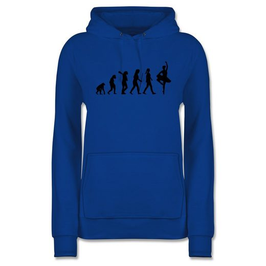 Shirtracer Hoodie »Ballett Evolution - Damen Premium Kapuzenpullover«