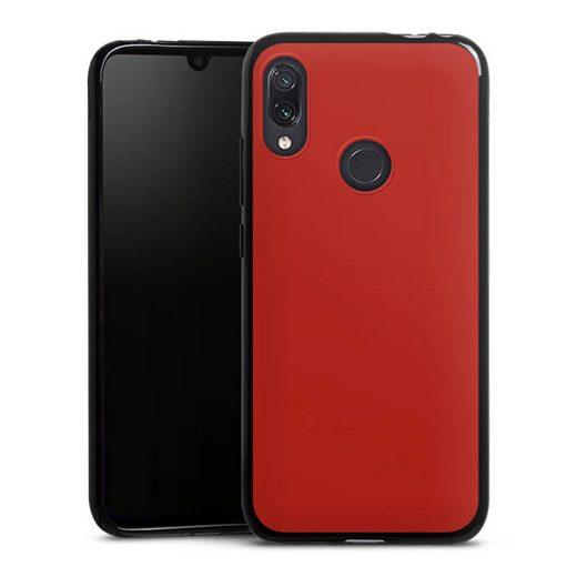 DeinDesign Handyhülle »Karminrot« Xiaomi Redmi Note 7, Hülle Rot einfarbig Thermomixmotive