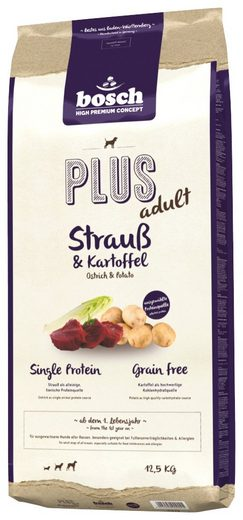 Bosch Petfood Trockenfutter »Plus Strauß und Kartoffel«, 12,5 kg