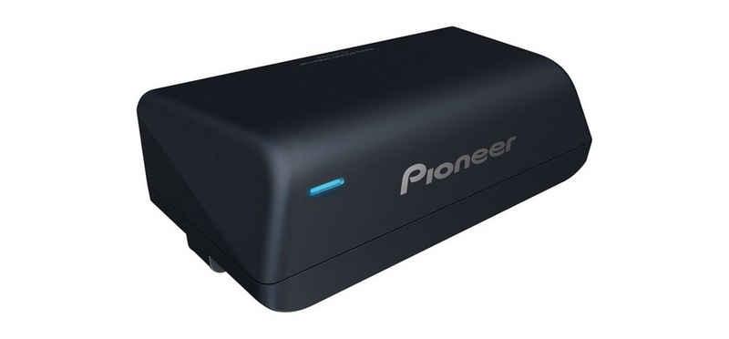 Pioneer Subwoofer (Pioneer TS-WX010A, Ultrakompakter platzsparender Aktivsubwoofer mit integriertem Class-D-Verstärker)