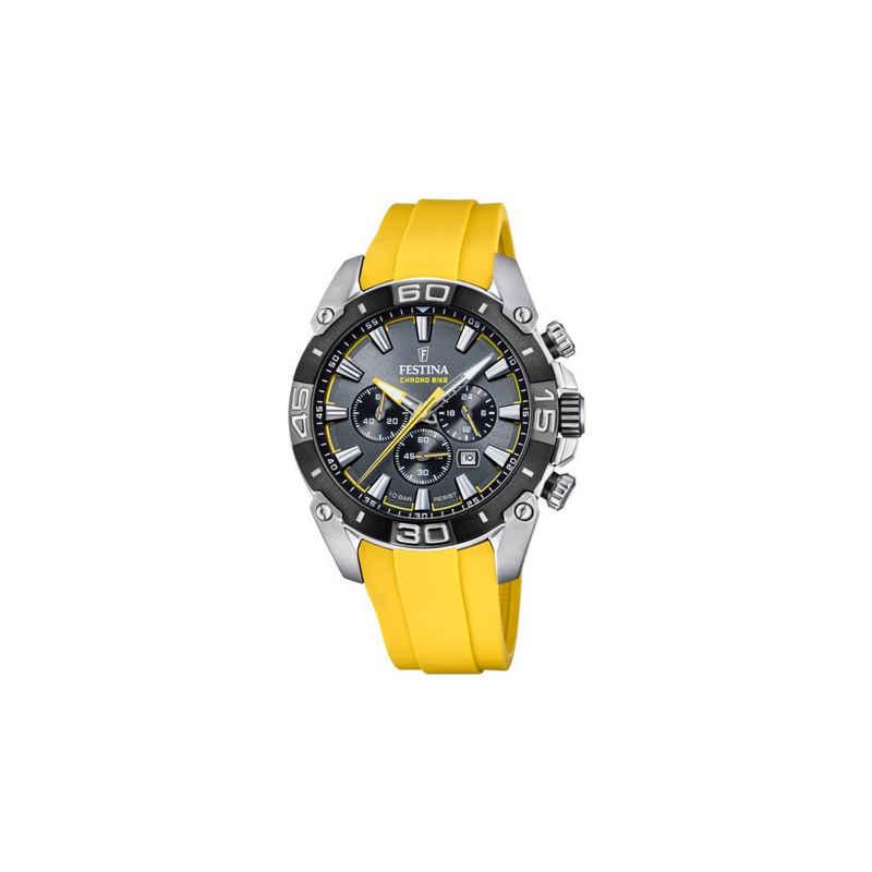 Festina Chronograph »F20544/7 Herren-Uhr Chrono Bike 2021Gelb Quarz Silikon-Armband«