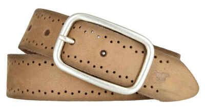 MUSTANG Ledergürtel »Mustang Damen Leder Gürtel Ledergürtel 35 mm cogna«