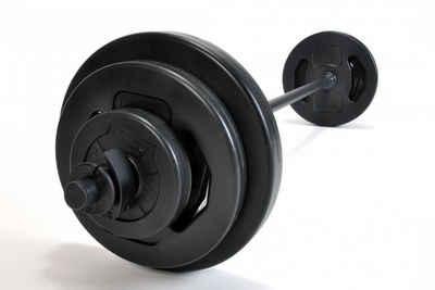 Pumpset! Langhantel »Original pumpset! 20 kg (Stange, Verschlüsse, Scheiben: 2 x 1,0 kg, 2 x 2,5 kg, 2 x 5,0 kg)«, 19 kg