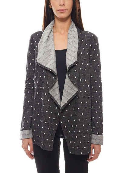 Roxy Cardigan »ROXY Sweatjacke Pullover verschlussloser Damen Cardigan Midnight Bloom Jacke Schwarz«