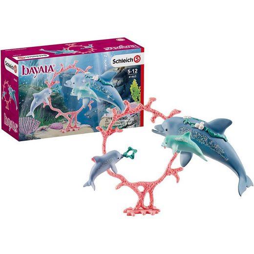 Schleich® Spielfigur »Schleich 41463 Wild Life: Delfin-Mama mit Babies«