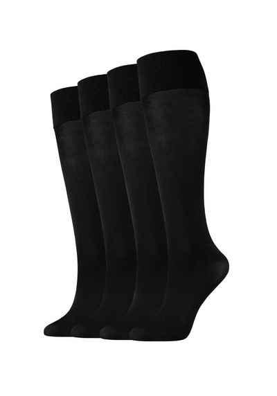 Camano Strümpfe (4-Paar) 60 DEN mit elastischem Komfortbündchen
