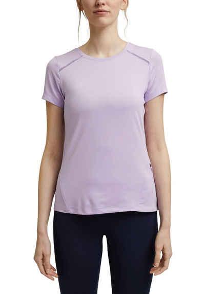 esprit sports T-Shirt mit dezenten Netzeinsätzen und Label-Druck hinten