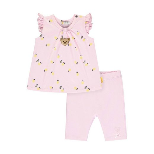 Steiff Freizeitanzug »Steiff Baby-Mädchen Set Leggings + T-shirt«
