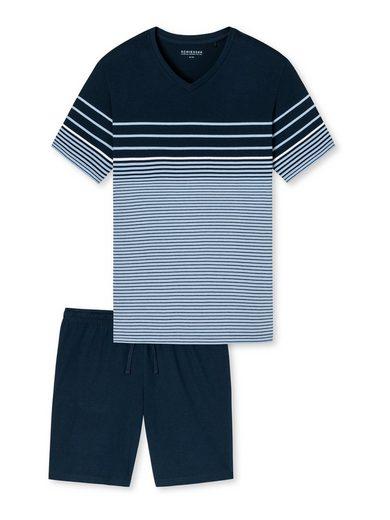 Schiesser Pyjama »Kurzarm Schlafanzug«