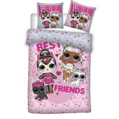 Kinderbettwäsche »Best Friends Bettwäsche Set«, LOL Surprise, 135x200 80x80 cm, 100% Baumwolle