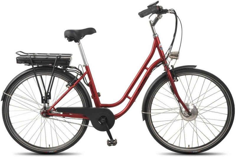 ALLEGRO E-Bike »Boulevard Plus 03 Bordeaux«, 7 Gang Shimano Nexus Schaltwerk, Nabenschaltung, Frontmotor 250 W
