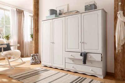 Home affaire Wäscheschrank »Minik« mit schönem geschwungenem Fußsockel, in drei verschiedenen Farbvarianten
