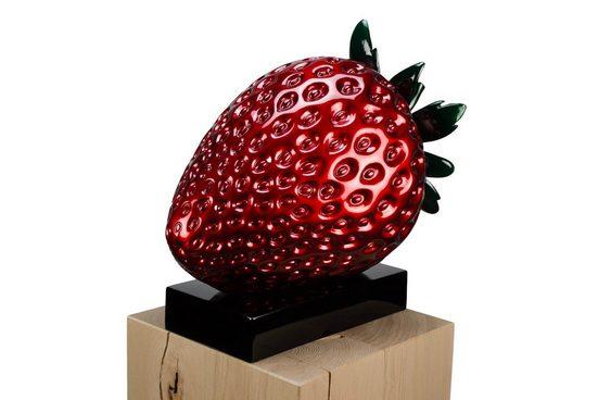 KUNSTLOFT Dekofigur »Strawberry Seduction«, handgefertigte Figur aus Kunststein
