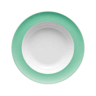Thomas Porzellan Suppenteller »Sunny Day Baltic Green Suppenteller 23 cm«, (1 Stück)