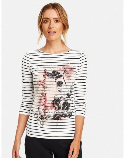 GERRY WEBER 3/4-Arm-Shirt »Shir mit Mustermix organic cotton«