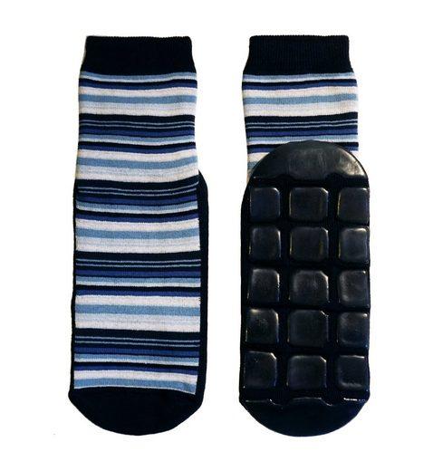 WERI SPEZIALS Strumpfhersteller GmbH ABS-Socken »Damen ABS-Socken >>Feine Ringel<< mit Baumwolle«