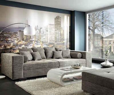 DELIFE Big-Sofa »Marlen«, Hellgrau 300x140 cm Bigsofa