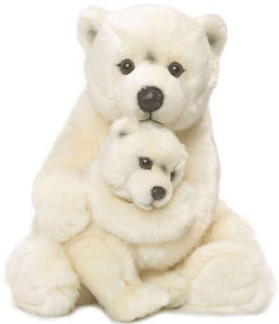 WWF Kuscheltier »Eisbärmutter mit Baby 28 cm«, zum Teil aus recycelten Material