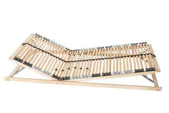 Lattenrost, Coemo, 42 Leisten, Kopfteil manuell verstellbar, Fußteil manuell verstellbar, enger Leistenabstand, preisgünstige Selbstmontage