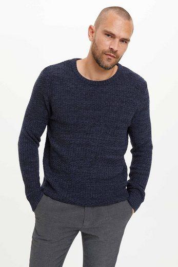DeFacto Rollkragenpullover »Herren Pullover Crew Neck Slim Fit Sweater SLIM«