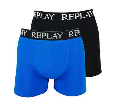 Replay Boxershorts »Basic Cuff Logo« im 2er Pack