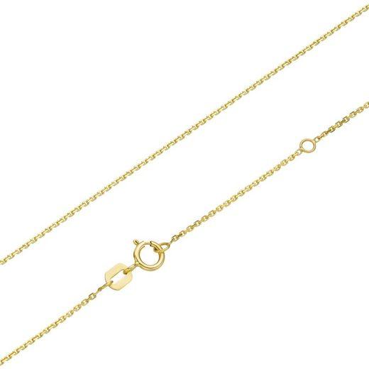 Luigi Merano Kette ohne Anhänger »diamantierte Ankerkette, massiv, Gold 375«