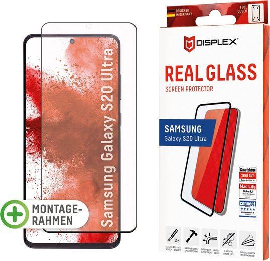 Displex »DISPLEX Real Glass Panzerglas für Samsung Galaxy S20 Ultra (6,9), 10H Tempered Glass, mit Montagerahmen, Full Cover« für Samsung Galaxy S20 Ultra, Displayschutzglas, 1 Stück