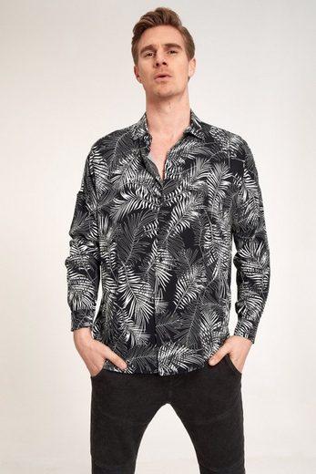Schlussverkauf Ordinary Truffle Langarmhemd »JOHAN« mit Farnblatt-Print